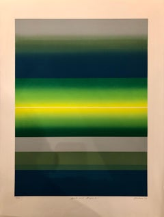 """Striking Lithograph Signed Numbered and Dated """"Splits And Stripes"""", 1979"""