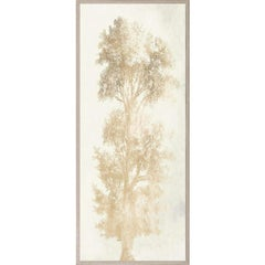 Strutt Trees, No. 1, gold leaf, framed