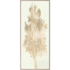 Strutt Trees, No. 3, gold leaf, framed