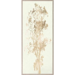 Strutt Trees, No. 4, gold leaf, framed