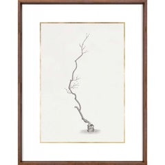 Taccani Branches, No. 1, gold leaf, silkscreen, framed