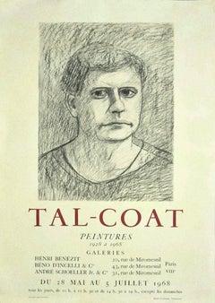 Tal Coat Exhibition Poster - Vintage Offset Print - 1968