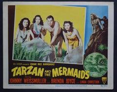 """TARZAN AND THE MERMAIDS"" Original American Lobby Card, USA/MEXICO 1948"