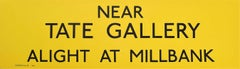 Tate Gallery, London England Routemaster Bus sign c. 1970 transport poster
