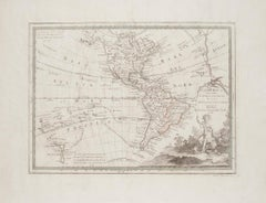 The Americas - Vintage Map - 18th century