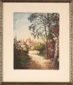"""""""The Country Home"""" (La Gentilhommiere) - Original Etching"""