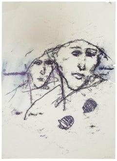 The Couple - Original Monotype - 1985