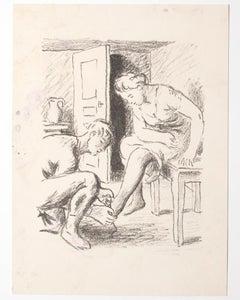 The Courtesy - Original Lithograph - Mid-20th Century