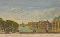 The Hague - Le fameux Vivier de la Haye - Etching by French Master 1700