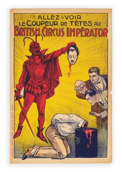 The Head-Cutter at the British Circus Imperator, Devil magic poster c. 1915