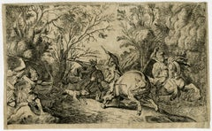 The hunt for the Caledonyan boar. - Etching - 17th Century