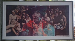 THE JIMI HENDRIX EXPERIENCE - ELECTRIC LADYLAND - ART WORK FOR - BANNED LP COVER