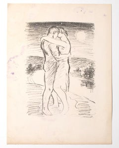 The Lovers - Original Lithograph - Mid-20th Century