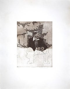 The Man - Original Etching on Paper - 1970s
