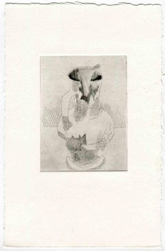 The Pitcher - Original Etching and Drypoint - Mid-20th Century