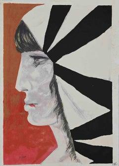 The Portrait - Original Print - 1970s