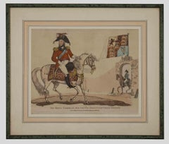 The Prince Regent of Great Britain - Original Water-Colored Lithograph - 1816