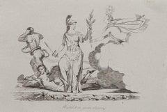 The Roman Republic - Original Etching on Paper - 1840 ca