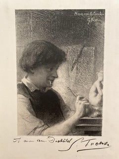 The Sculptor - Original Etching - Early 20th Century