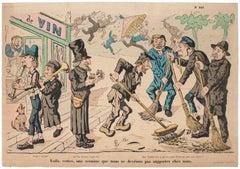 The Street - Original Lithograph - 19th Century