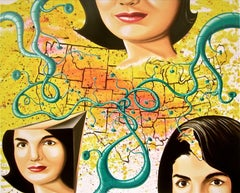 The Three Faces of Jackie, Limited Edition Silkscreen, Kenny Scharf - LARGE