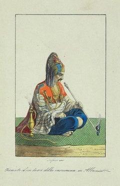The Turkish - Original Lithograph - 19th Century
