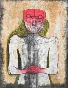The White Man - Original Lithograph by Rufino Tamayo - 1974