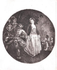 The Woman - Original Etching - 18th Century