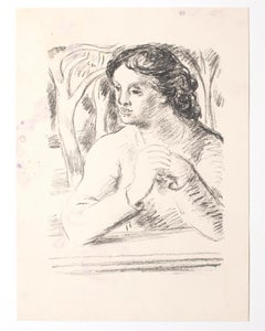 The Woman - Original Lithograph - Mid-20th Century