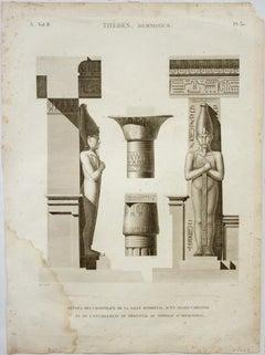 Thebes. Memnonium  / Details des Chapiteaux de la Salle Hypostyle, d'un Pilier