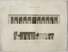 Thebes. Qournah. / Elevation et Coupe Longitudinale du Palais