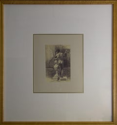 (Title Unknown) Young Nude-Framed Photographic Print