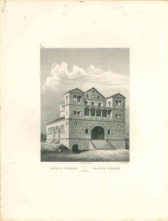 Tourmanin Church - Original Lithograph - Mid-19th Century