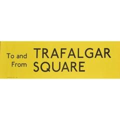 Trafalgar Square, London England Routemaster Bus sign c. 1970