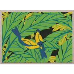 Tropical Birds No. 1, acrylic box, framed