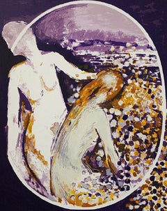 """Two People in Violet"" Limited Edition Serigraph, 149/199"