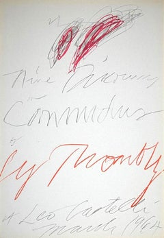 Twombly Exhibition - Leo Castelli Gallery - Original Lithograph - 1964