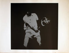 Untitled: Tennis Player Blue/Grey Serigraph (Artist Proof)