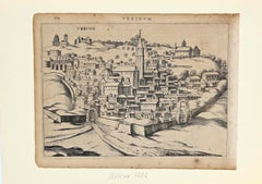 Urbino Under the Snow - Original Etching - 17th Century