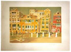 Venice Cityscape - Original Lithograph - 1960s