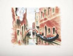 Venice - Original Lithograph 1960s