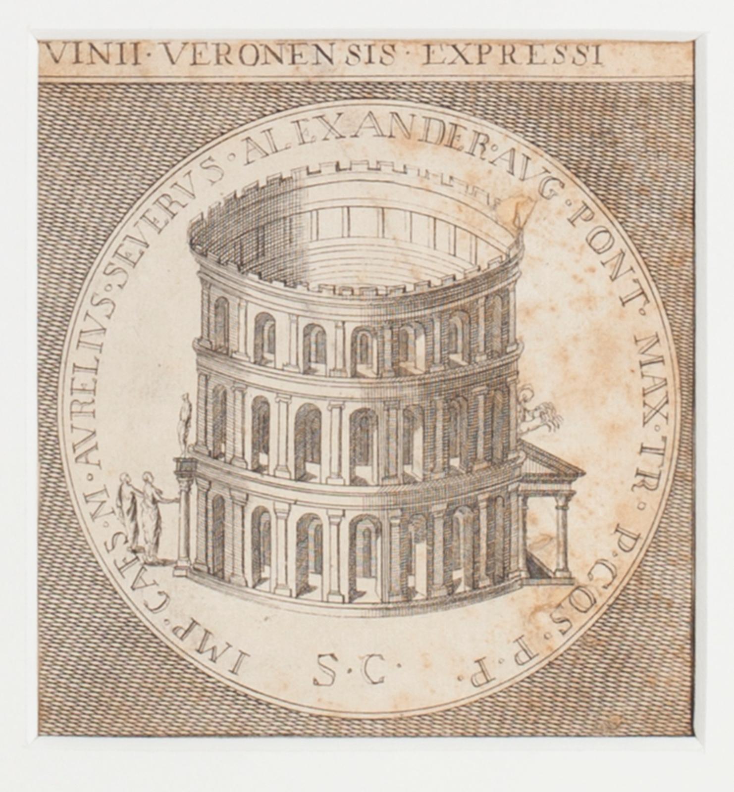 Verona - Original Etching - 19th Century