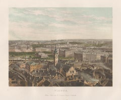 Vienna, Austria, birds-eye view, chromolithograph, c1870