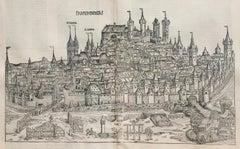 View of Nuremberg from Nuremberg Chronicle - 527 years old
