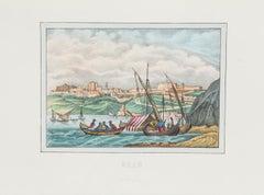 View of Oran - Original Lithograph - 1846