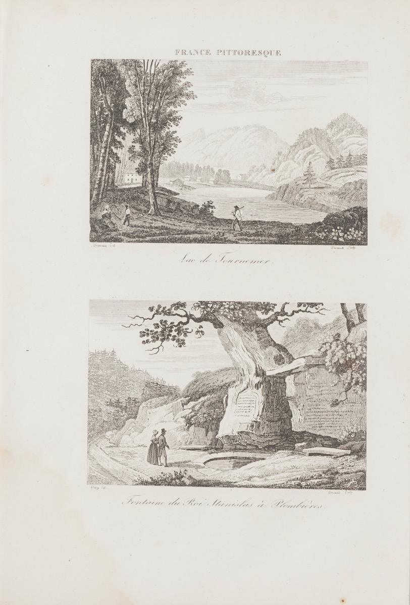 Views of Plombières and Tournemer - Original Lithograph - 19th Century