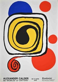 Vintage Exhibition Poster - Original Lithograph by A. Calder - 1976