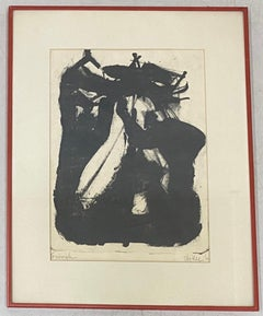 Vintage Mid Century Modern Abstract Lithograph c.1965