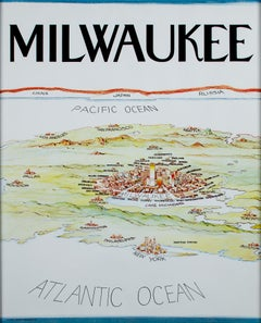 """Milwaukee (Wisconsin),"" Vintage Poster from 1983"