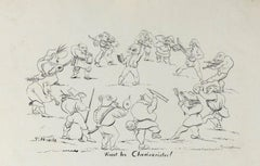 Vivent les Charivaristes - Original Lithograph  - Early 20th century